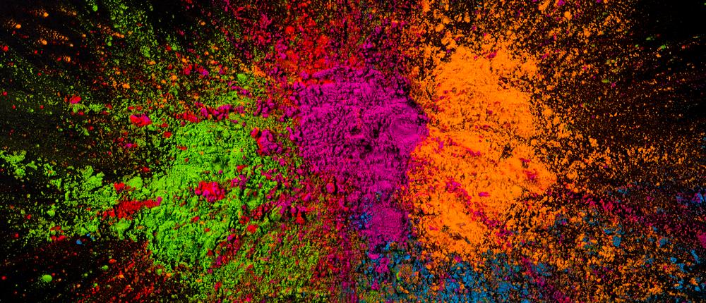 انواع رنگ ها - رنگ های پودری