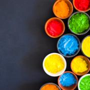 انوع رنگ ها - رنگ های پودری